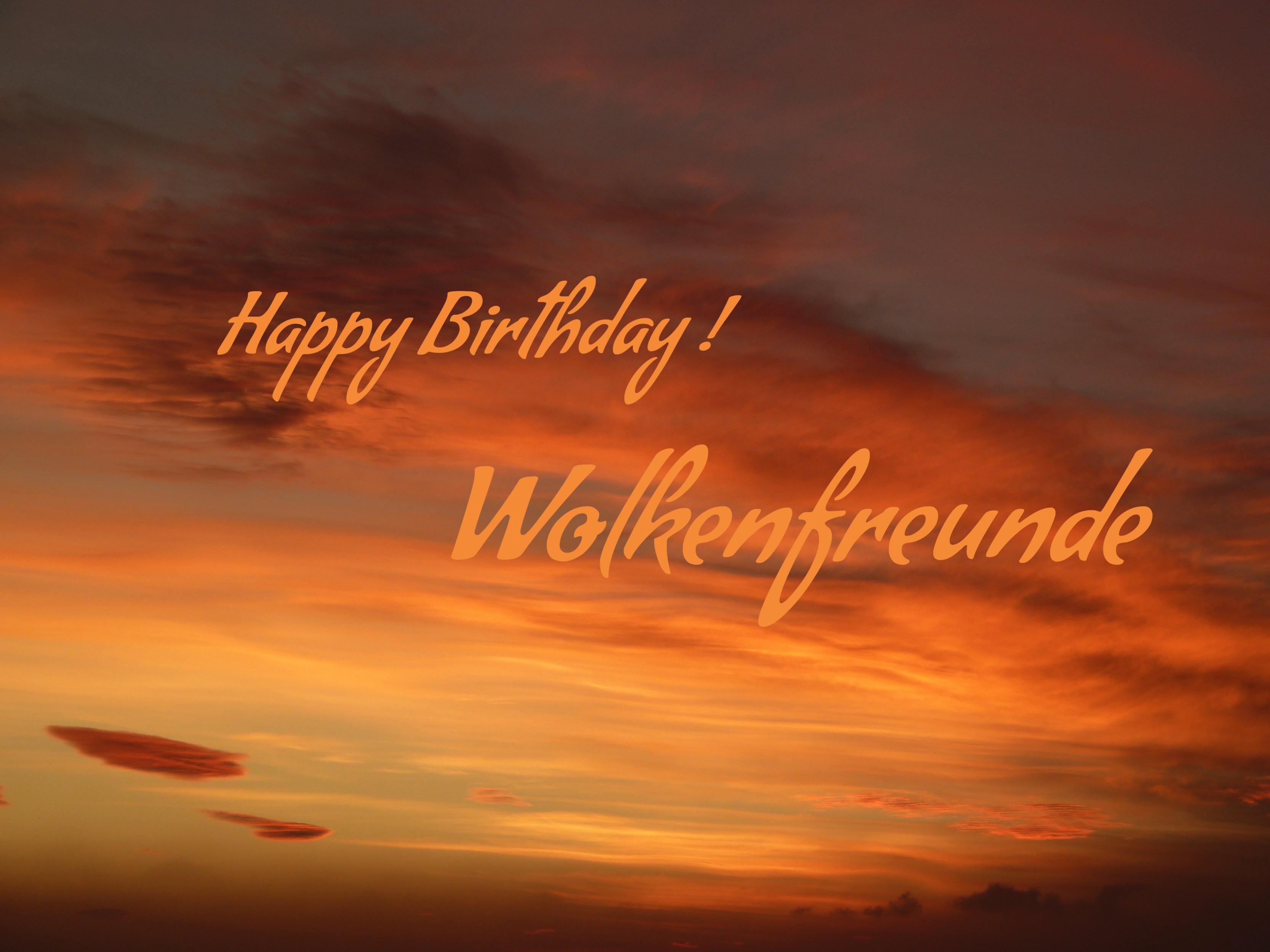 Happy Birthday Wolkenfreunde & Verlosung als Dankeschön !
