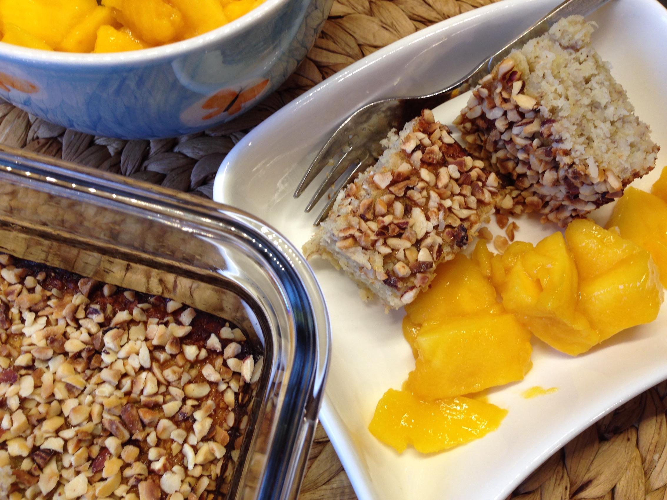 Kokos-Bananen-Schnitten – eine paradiesische Frühstücksidee !